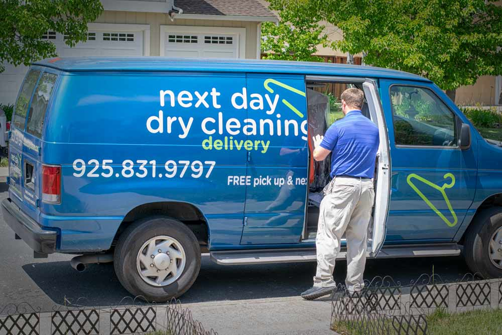 Dry cleaning delivery van in Pleasant Hill, CA